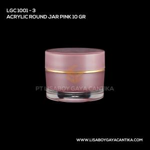 1001-3-ACRYLIC-ROUND-JAR-PINK-10-GR