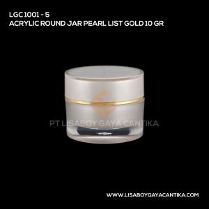 1001-5-ACRYLIC-ROUND-JAR-PEARL-LIST-GOLD-10-GR