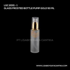 2001-1-GLASS-FROSTED-BOTTLE-PUMP-GOLD-50-ML
