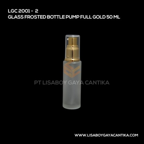 2001-2-GLASS-FROSTED-BOTTLE-PUMP-FULL-GOLD-50-ML