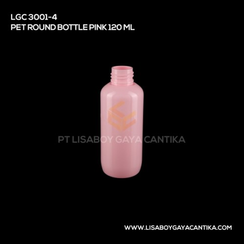 LGC-3001-4-PET-ROUND-BOTTLE-PINK-120-ML