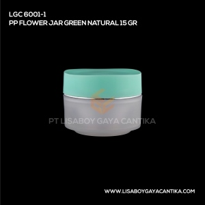 LGC-6001-1-PP-FLOWER-JAR-GREEN-NATURAL-15-GR