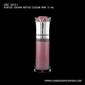 LGC-2015-1-ACRYLIC-CROWN-BOTTLE-COLOUR-PINK-15-ML-