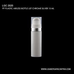 LGC-2020-PP-PLASTIC-AIRLESS-BOTTLE-LIST-CHROME-SILVER-15-ML