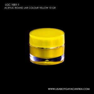 LGC-1001-1-ACRYLIC-ROUND-JAR-COLOUR-YELLOW-10-GR