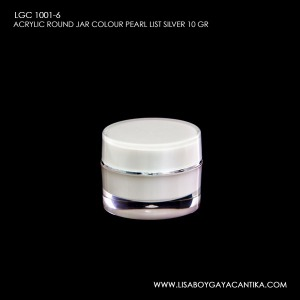 LGC-1001-6-ACRYLIC-ROUND-JAR-COLOUR-PEARL-LIST-SILVER-10-GR