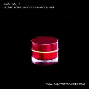 LGC-1001-7-ACRYLIC-ROUND-JAR-COLOUR-MAROON-10-GR