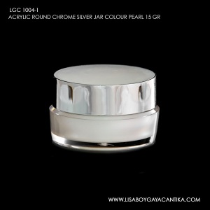 LGC-1004-1-ACRYLIC-ROUND-CHROME-SILVER-JAR-COLOUR-PEARL-15-GR