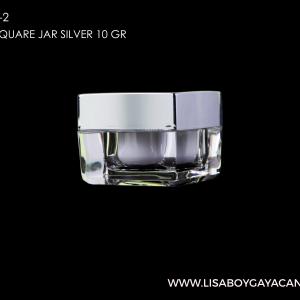LGC-1032-2-ACRYLIC-SQUARE-JAR-SILVER-10-GR