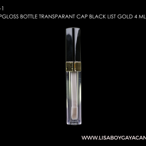 LGC-9005-1-SQUARE-LIPGLOSS-BOTTLE-TRANSPARANT-CAP-BLACK-LIST-GOLD-4-ML