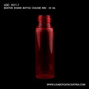 LGC-3011-7-BOSTON-ROUND-BOTTLE-COLOUR-RED-30-ML-