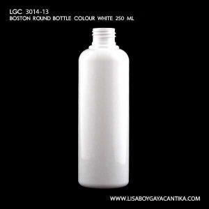 LGC-3014-13-BOSTON-ROUND-BOTTLE-COLOUR-WHITE-250-ML