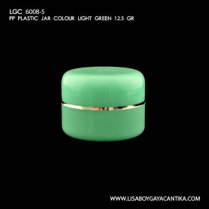 LGC-6008-5-PP-PLASTIC-JAR-COLOUR-LIGHT-GREEN-12.5-GR