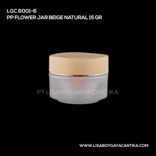 LGC-6001-6-PP-FLOWER-JAR-BEIGE-NATURAL-15-GR