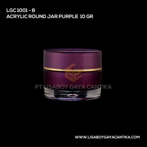 1001-8-ACRYLIC-ROUND-JAR-PURPLE-10-GR