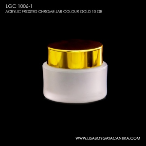 LGC-1006-1-ACRYLIC-FROSTED-CHROME-JAR-COLOUR-GOLD-10-GR